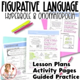 Hyperbole and Onomatopoeia Figurative Language in Poetry Lesson