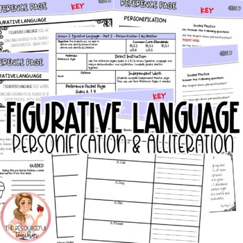 Personification and Alliteration Figurative Language in Poetry Lesson