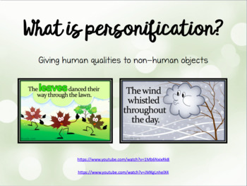 Personification PPT *EDITABLE*