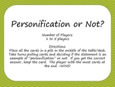 Personification or Not