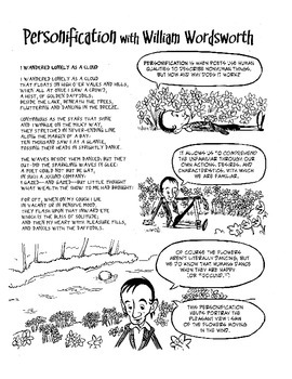 William Wordsworth Explains Personification: Poetry Comics Activities Included