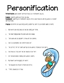 Personification worksheet