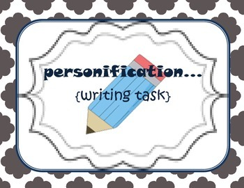 Personification {writing task}