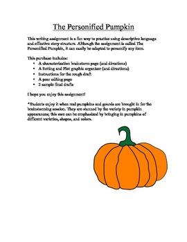 Personified Pumpkin- Figurative Language
