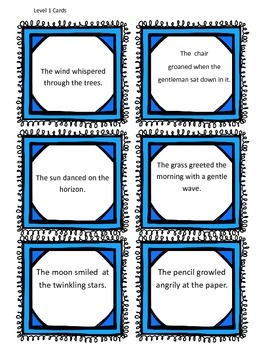 Personify This! Literacy Center Game on Personification Figurative Language