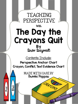 Perspective, Conflict, and text evidence with The Day The Crayons Quit