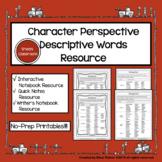Perspective Description Word List - No Prep-Printable