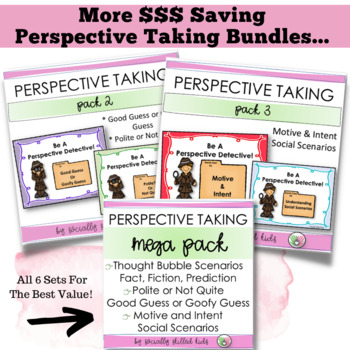 PERSPECTIVE TAKING  and SOCIAL SKILLS ACTIVITIES BUNDLE Pack 1