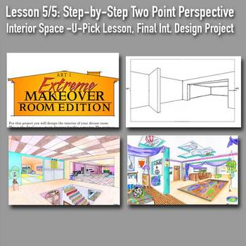 Lesson 5/5: Persp Draw Boot Camp: Step-by-Step PPT, &  DREAM ROOM Final Drawing