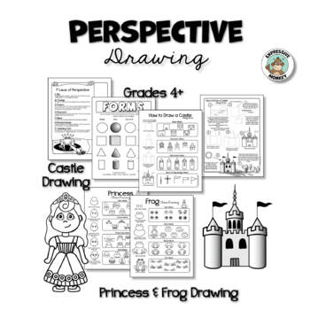 Perspective Drawing: Showing Perspective with Castles, Dragons + Princess & Frog