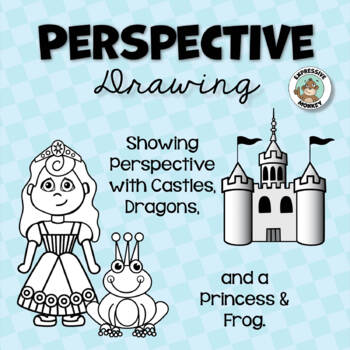 Perspective Drawing: Showing Perspective with Castles, Dra