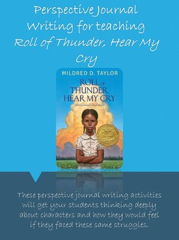 Perspective Journal Writing for Roll of Thunder, Hear My Cry