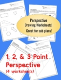 Perspective Practice Drawing Worksheet Bundle