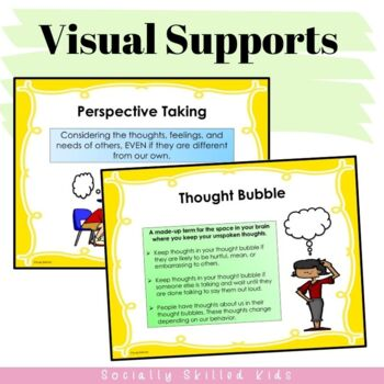 PERSPECTIVE TAKING ACTIVITIES: Thought Bubble Scenarios {k-5th Grade or Ability}