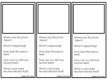 Perspective Taking: Photo activities for emotions & thinking about reactions.