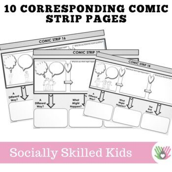 PERSPECTIVE TAKING and PROBLEM SOLVING~ Comic Strip Style {For 3rd-5th Grade}