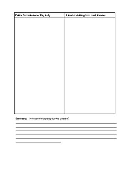 Perspective Writing Activity and Graphic Organizer
