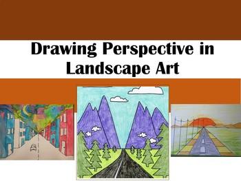Perspective in Landscape Art - Digital Task Cards