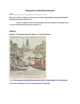 Perspectives on the Boston Massacre