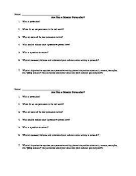 Persuasion Conceptual Understanding Quiz