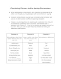 Persuasion: Countering Phrases to Use during Discussions