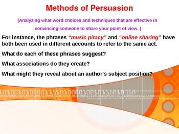 Persuasion: Intro to Rhetorical Strategies (pathos, ethos, logos)