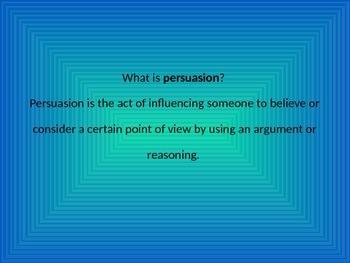 Persuasion Lesson for 5th Grade