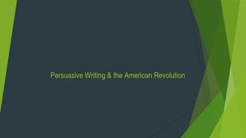Persuasion & Literature of the American Revolution