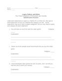 Persuasion: Logos, Pathos, and Ethos Identification Practice Sheet
