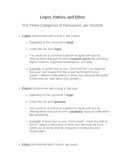 Persuasion: Logos, Pathos, and Ethos Unit Materials All-in-One DEAL