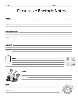 Persuasion Fill-In Notes: Rhetorical Appeals & Rhetorical Devices +Accommodation