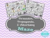Persuasion, Propaganda, & Advertising Maze Activity