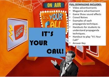 Persuasion Propaganda  - Analyze Text and Media for Propaganda (PowerPoint)
