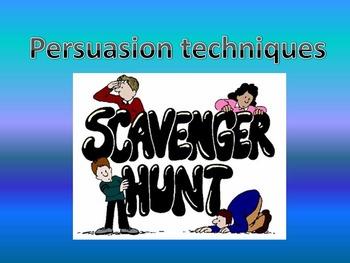 Persuasion Scavenger Hunt