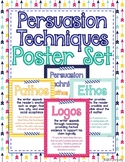 Persuasion Techniques Poster Set: Ethos, Logos, Pathos