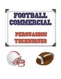 Persuasion Techniques Football Commercials Activity!