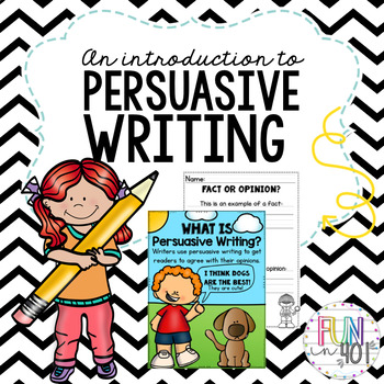 An Introduction to Persuasion Writing for Little Learners!