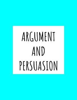 Persuasion and Argument PPT