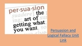 Persuasion and Logical Fallacy Unit Plan