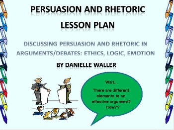 Persuasion and Rhetoric Lesson Plan