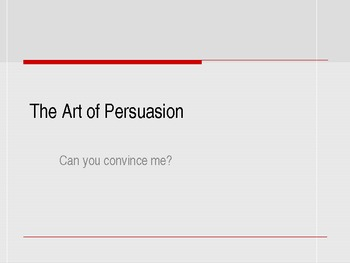 Persuasion and Rhetoric Lesson Plan