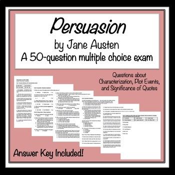 Persuasion by Jane Austen: 50-Question Exam