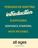 * FREEBEE * Fun opinion and PURSUASIVE writing - blank template and scaffolding