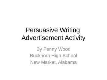 Persuasive Advertisement Activity