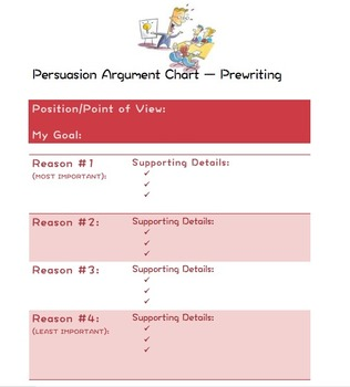 Persuasive Argument Graphic Organizer
