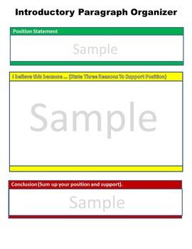 Persuasive Argument Paper Graphic Organizer
