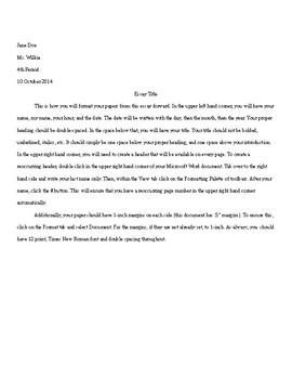 Persuasive/Argument Peer Edit