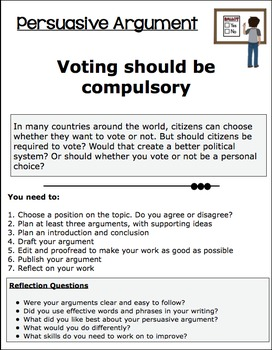 Persuasive Argument Task Compulsory Voting