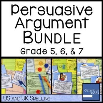 Persuasive Argument Writing Bundle