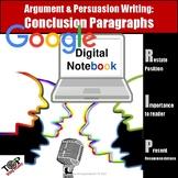 Persuasive Argument Writing Conclusion Paragraph Google Digital Resource